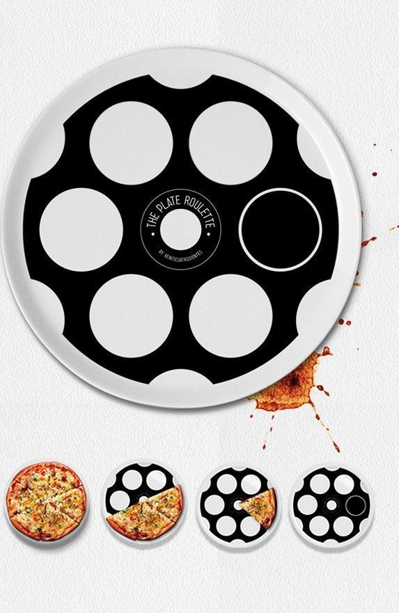 JANIS-EN-SUCRE - 22 33 - pizza roulette russe. Celui qui a la balle paie la pizza