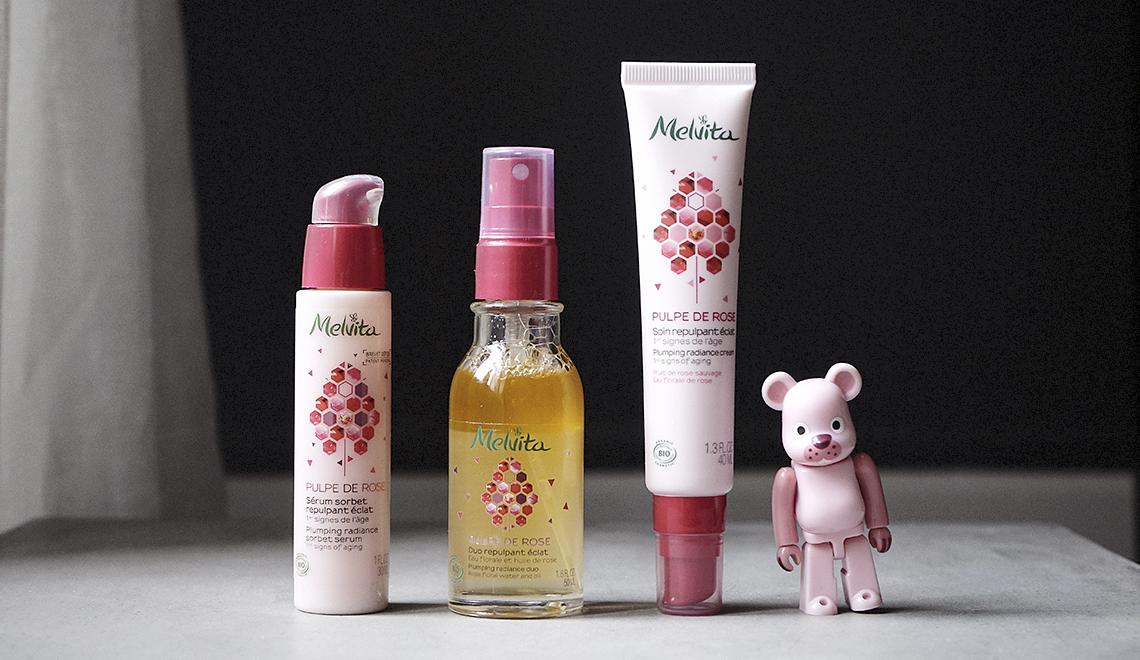 «Pulpe de Rose» signé Melvita, la gamme bio contre les 1ers signes de l'âge
