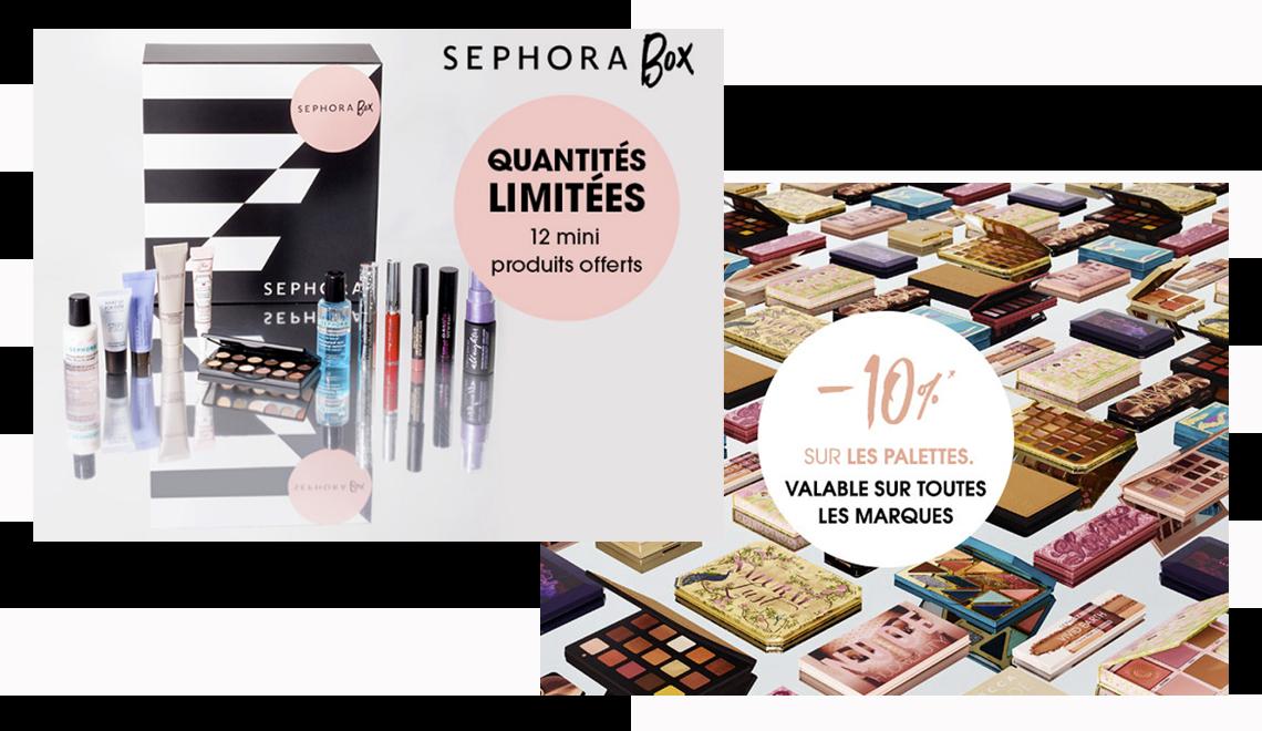 Les bons plans Sephora à saisir : Box & -10% sur TOUTES les palettes !