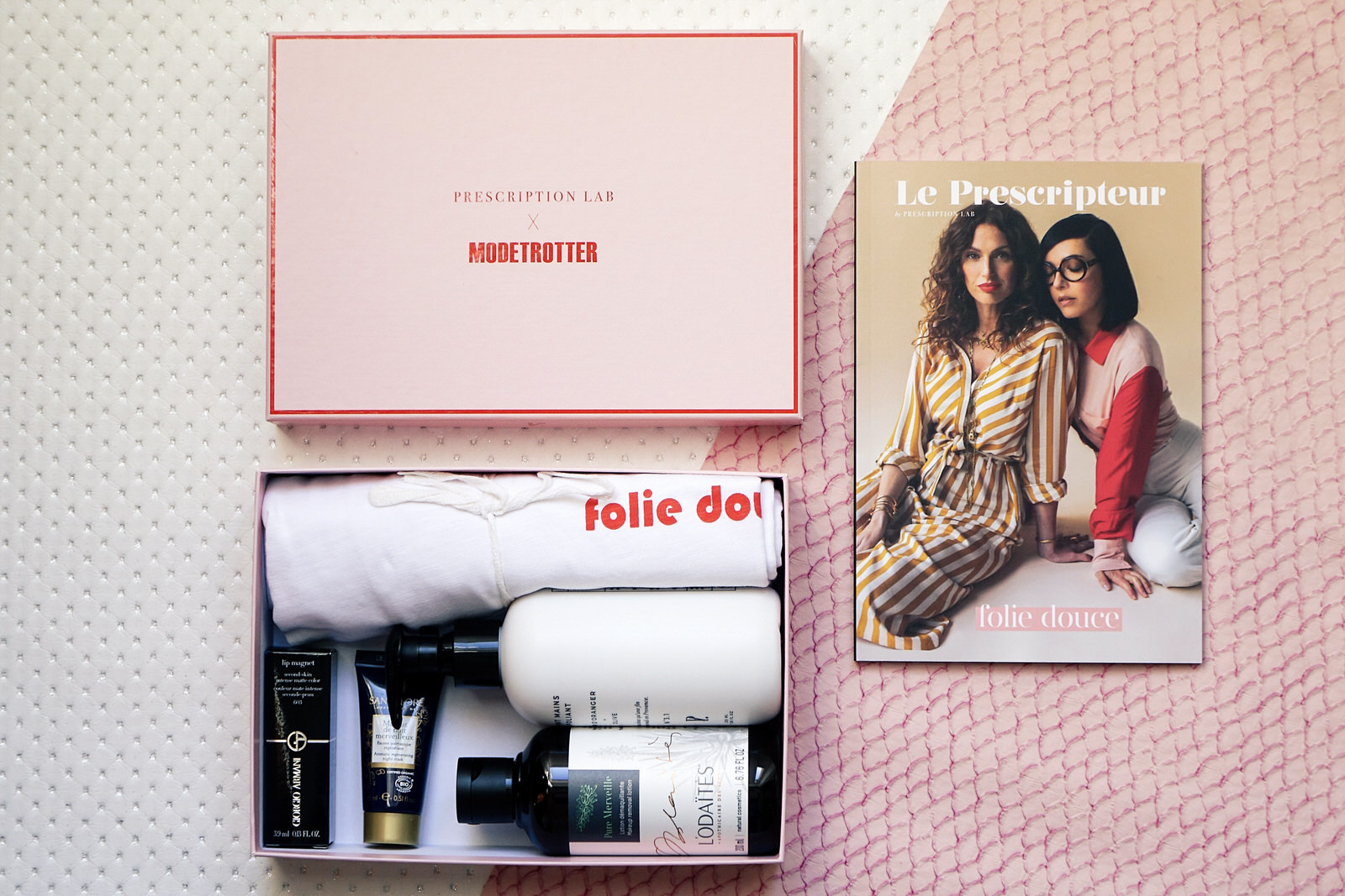 box beauté, prescription lab, box, avril 2019, giorgio armani, folie douce, le prescripteur, brigitte, contenu