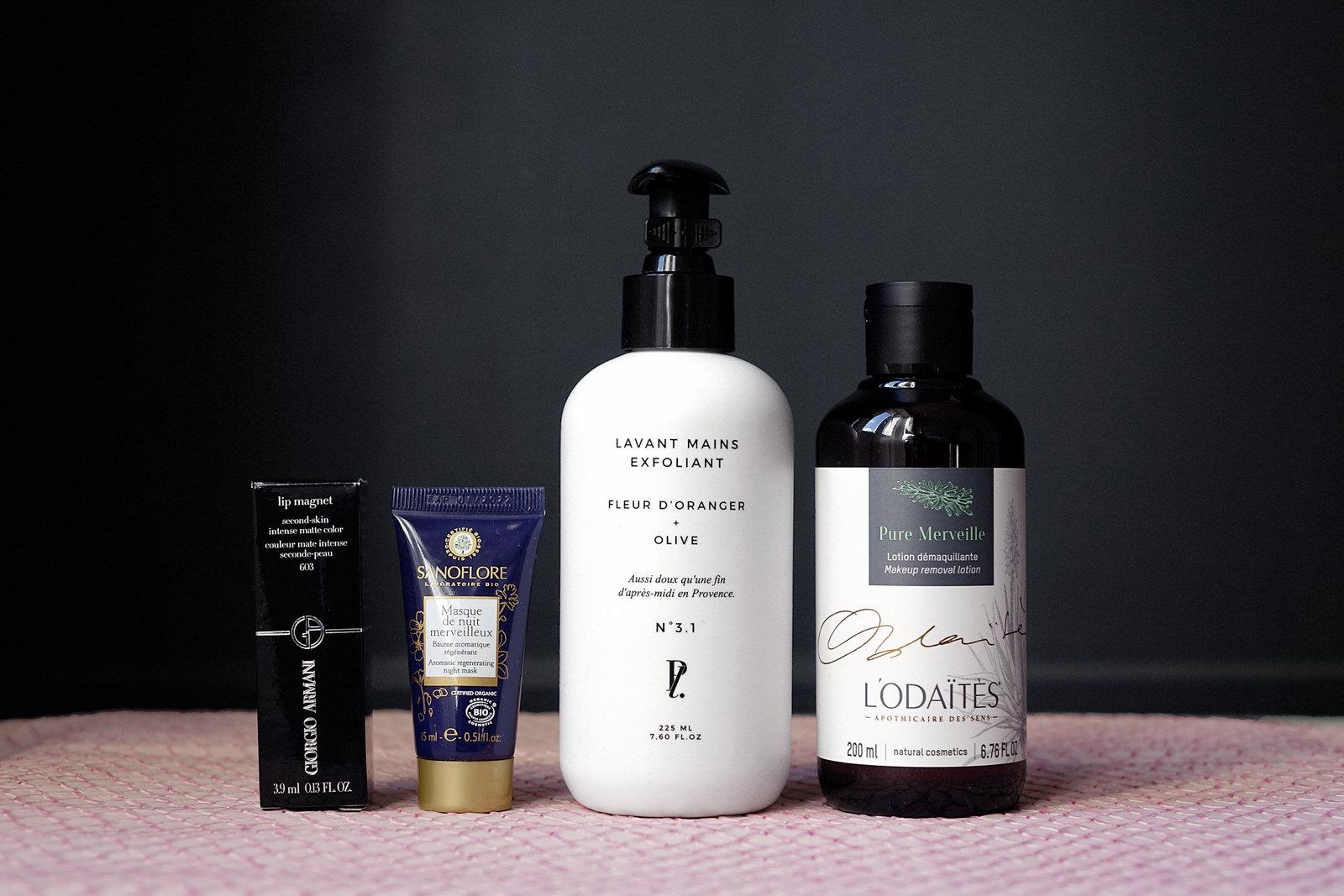 box beauté, prescription lab, box, avril 2019, giorgio armani, folie douce, le prescripteur, brigitte, contenu