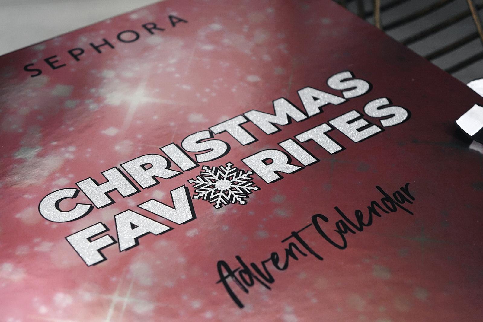 Spoil - le contenu du calendrier de l'avent Sephora 2019 - Christmas Favorites