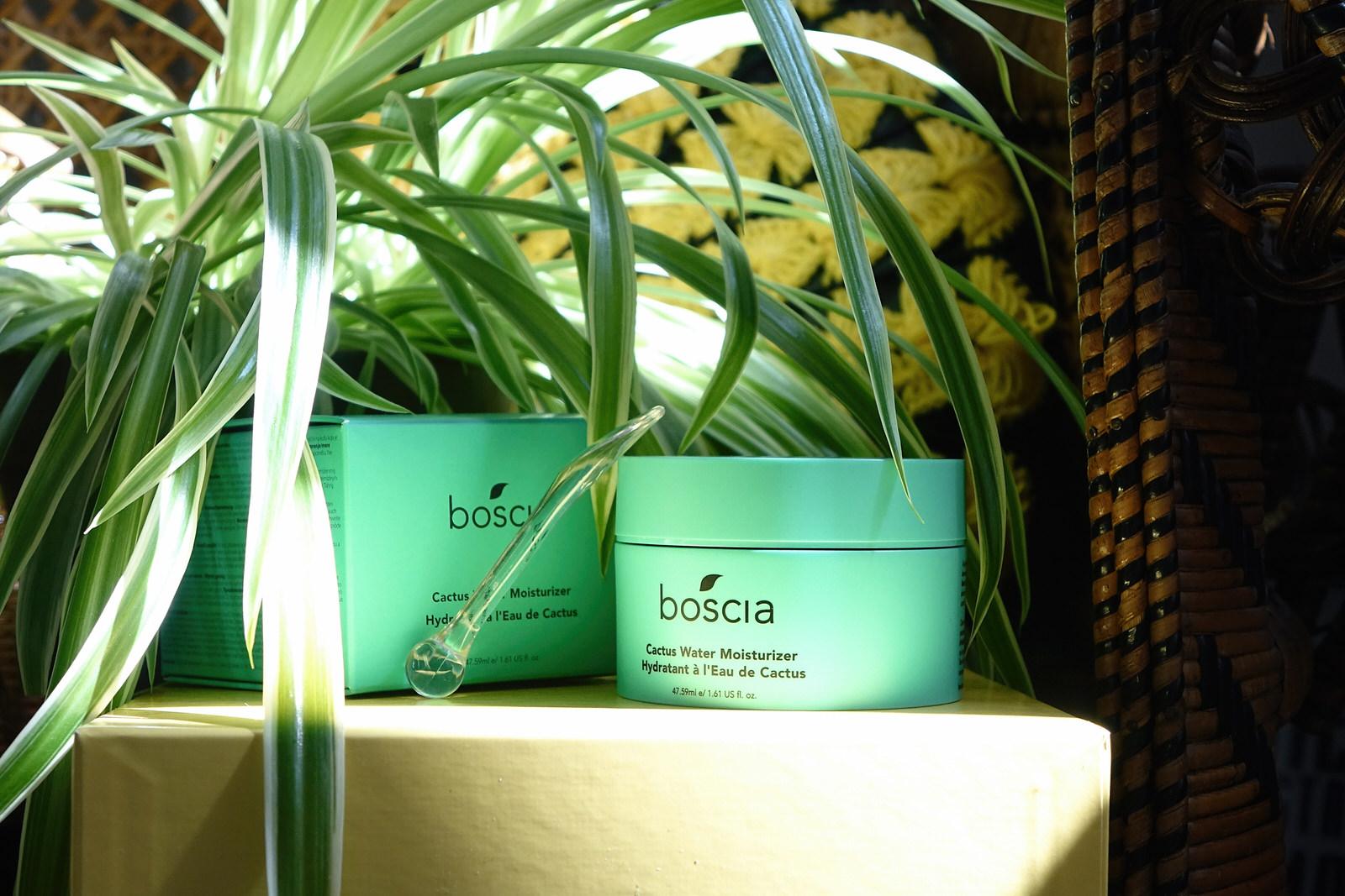Présentation des produits Boscia, gamme water cactus