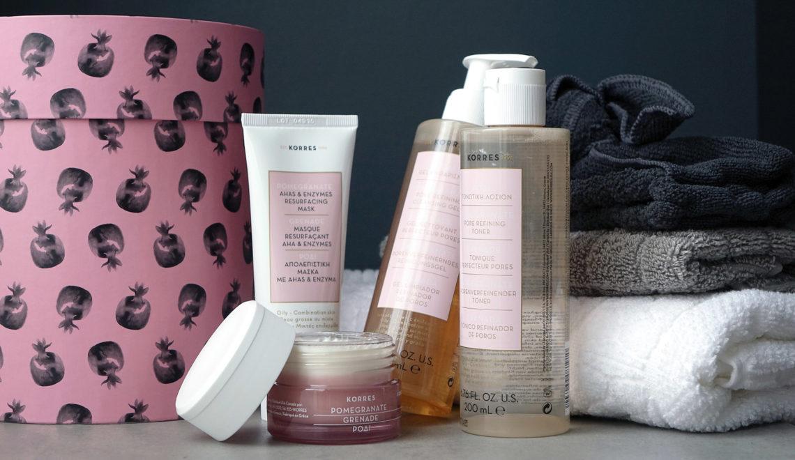 Une gamme Korres pour les peaux à imperfections, mixtes a grasses, aux pores dilatés