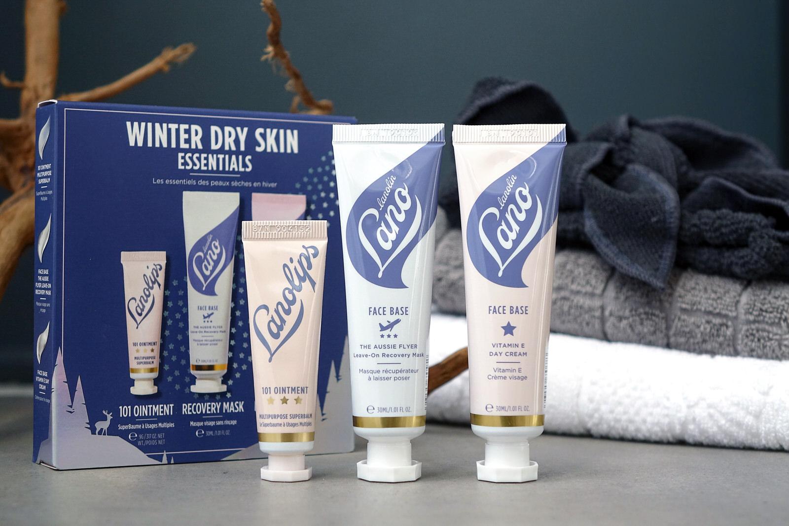 """Le coffret Lanolips """"Winter Holidays Essentials"""" , les essentiels pour les peaux sèches en hiver"""