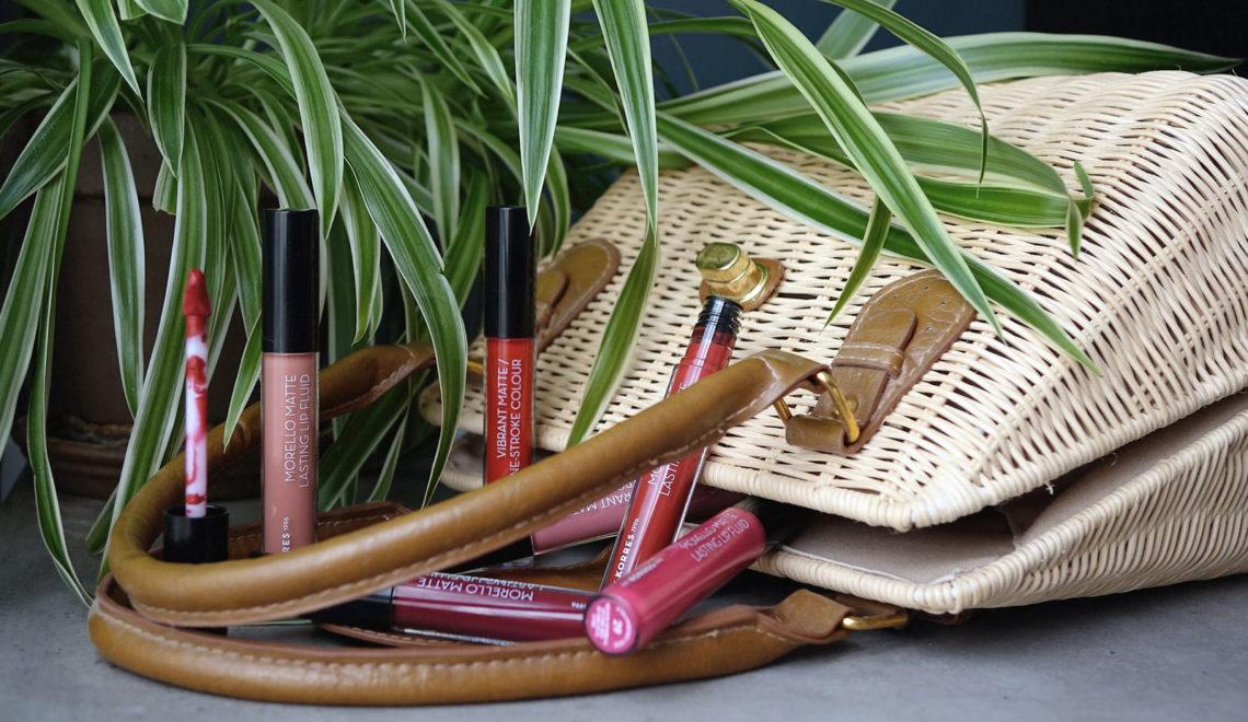 Les nouveaux rouges à lèvres liquides «Morello» de Korres : mon avis