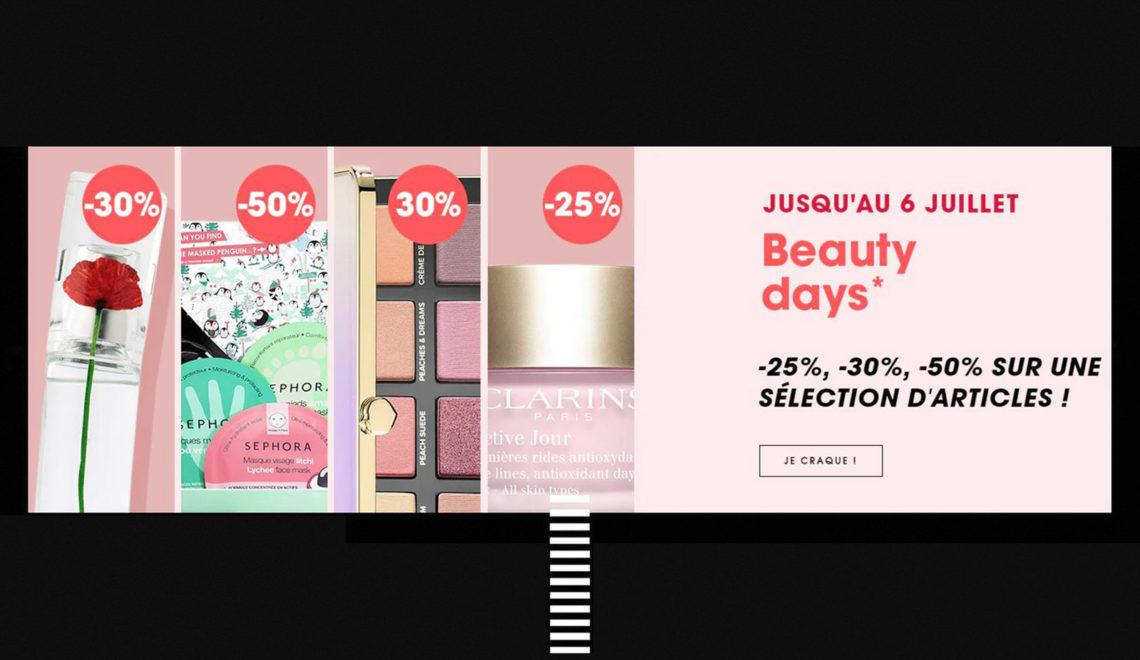 Jusqu'à -50% chez Sephora pour les «Beauty Days» : ma sélection