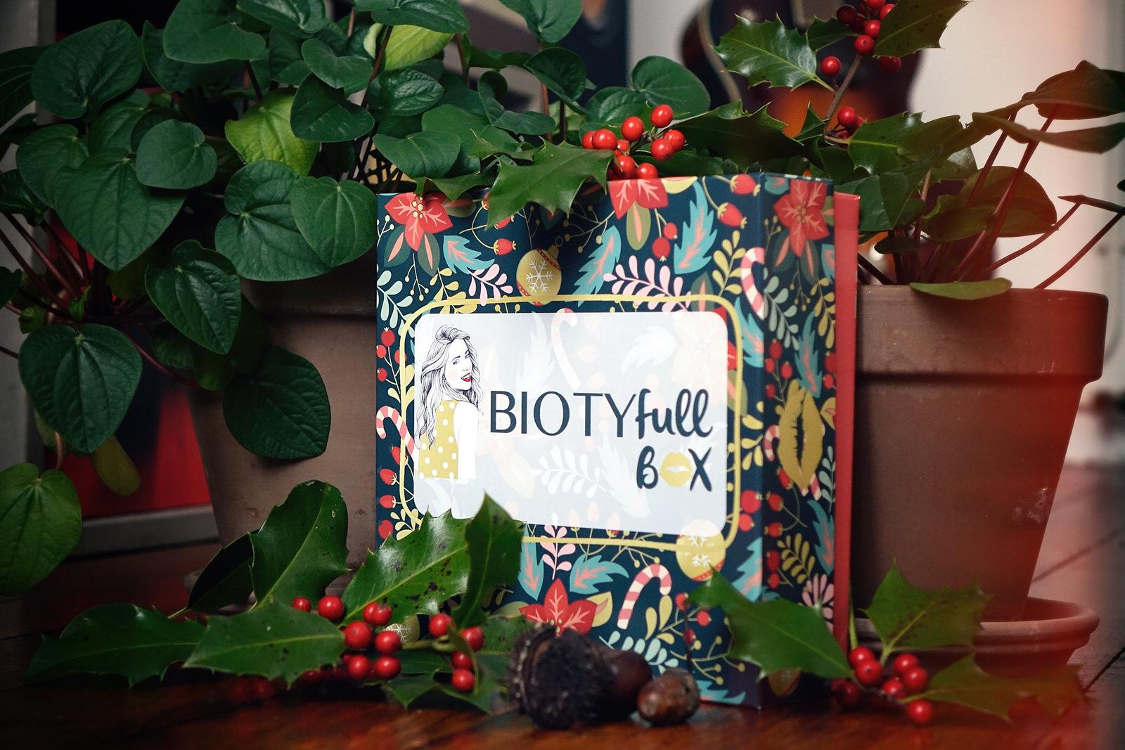 BIOTYfull Box de décembre 2020 - box beauté de noël