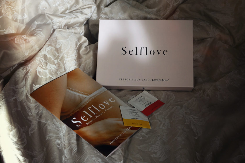 Contenu de la box Prescription Lab, Self Love en collab' avec Love to Love, pour la Saint Valentin