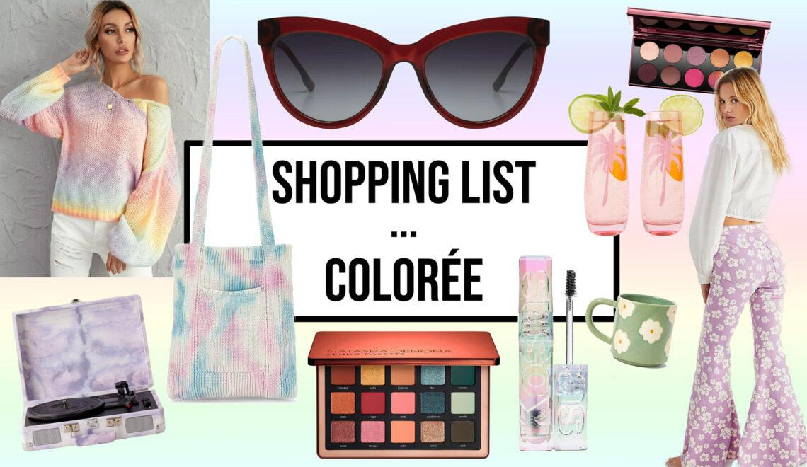 Shopping list … Colorée